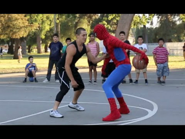 spiderman basquet