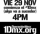 Operación1dmx programa marcha el día de hoy en conmemoración al #1D