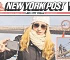 Mujer posa para selfie mientras un hombre intenta aventarse de un puente