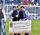 Gobernador de Quintana Roo carga al erario público donaciones que hizo a Messi