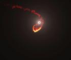 La increíble colisión entre una nube de gas y un agujero negro