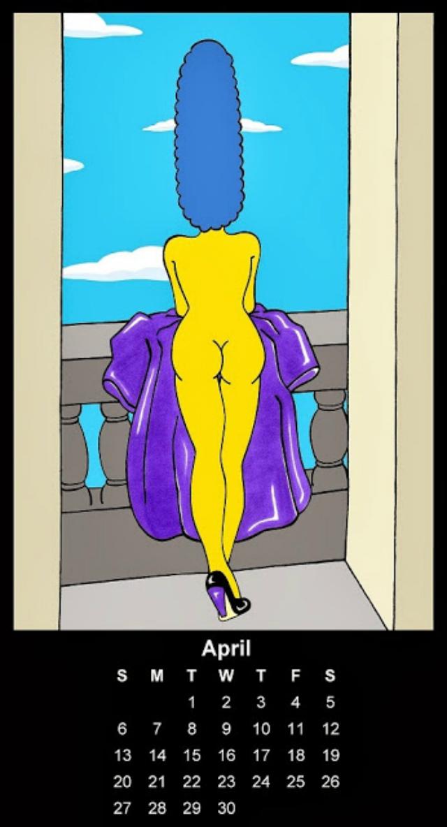 El Calendario Nsfw De Homero Y Marge Simpson