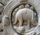 El dinosaurio escondido en un templo de Camboya
