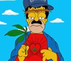 """Dibujaron a Homero Simpson al tradicional estilo de """"El Chapo""""... ¿qué?"""