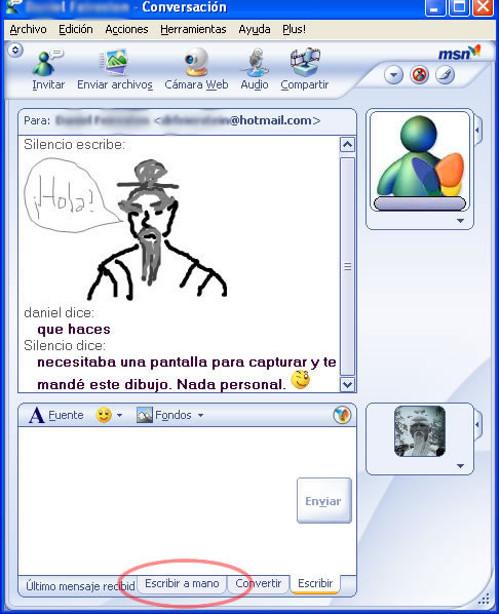 enviar dibujo messenger: