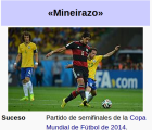 "El ""Mineirazo"" ya es parte de Wikipedia"