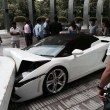 Lamborghini smashed by Vallet parking driver at hotel LeMerdien,Delhi
