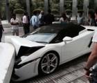 #EpicFail Valet Parking de un hotel estrelló un Lamborghini