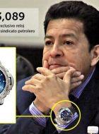 """Le roban reloj a tesorero de sindicato de Pemex, """"no pasa nada"""", asegura"""