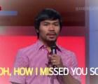 Y con ustedes... Manny Pacquiao cantando para la NFL