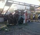 Se volcó microbús en la Venustiano Carranza, hay 11 heridos