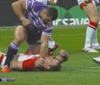 WTF?!?! Un jugador de Rugby le propinó dos puñetazos a otro