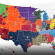 El mapa de Twitter que indica la repartición de los fanáticos de la NFL en Estados Unidos