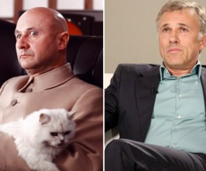 Donald Pleasance as Blofeld and Christoph Waltz Composite