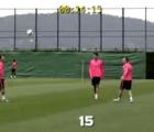 ¿Cuántas dominadas pueden hacer Iniesta, Busquets y Xavi?