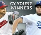 Kluber y Kershaw los ganadores del Cy Young
