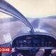 Video: El trágico accidente de un avión, captado desde la cabina