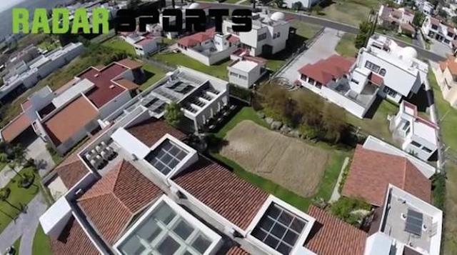 Casa de Ronaldinho en Querétaro vista desde un dron