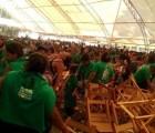 Abejas irrumpen en informe de gobierno de Manuel Velasco