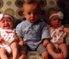 Video: La confusión de un bebé al conocer unas gemelas