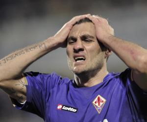 Fiorentina's forward Christian Vieri rea
