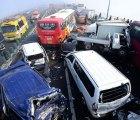 Galería: Carambola de 100 autos en Corea del Sur