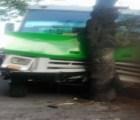 Microbús choca contra un árbol en Av. Oceanía