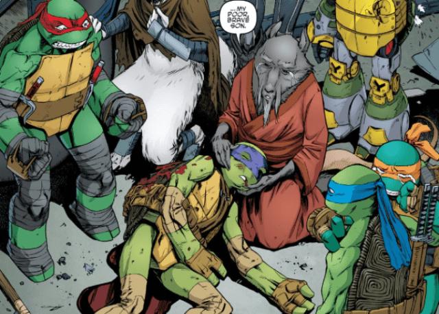 Muere Donatello de las Tortugas Ninja en Comic