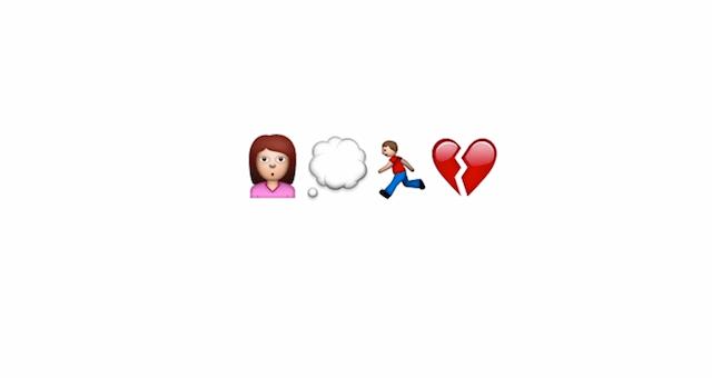 Una trágica historia de amor hecha con emojis
