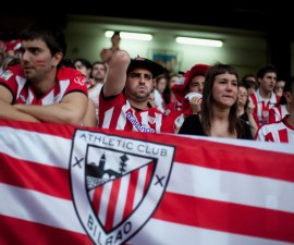 Fans of Athletic Bilbao Watching the Europa League Final