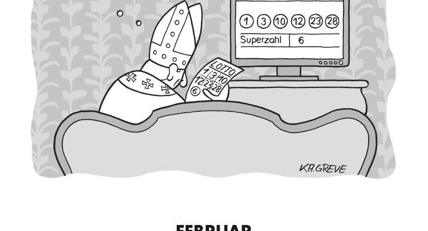 Papst Cartoon