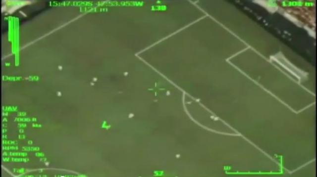 gol de neymar visto desde un dron