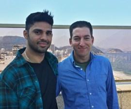 Glenn Greenwald and his partner David Miranda