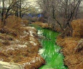 agua verde rusia