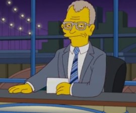 david letterman simpsons