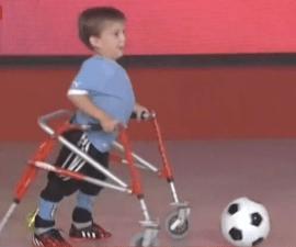 niño discapacidad suarez neymar messi