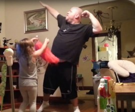 dad dances katy perry