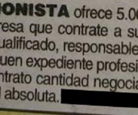 oferta trabajo