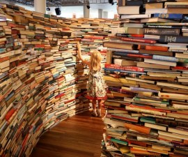 Brazilian Artists Create Labyrinth Using 250,000 Books