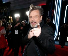 "Actor Mark Hamill arrives at the premiere of ""Star Wars: The Force Awakens"" in Hollywood"