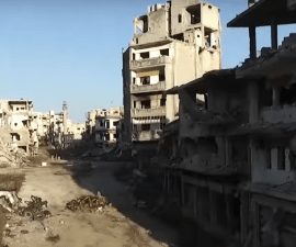 Drone footage Homs, Siria destruction