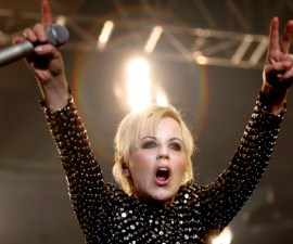 BELGRADE, SERBIA - DECEMBER 04: Dolores O'Riordan of The Cranberries performs at Sports Hall on December 4, 2012 in Belgrade, Serbia. (Photo by Srdjan Stevanovic/WireImage)