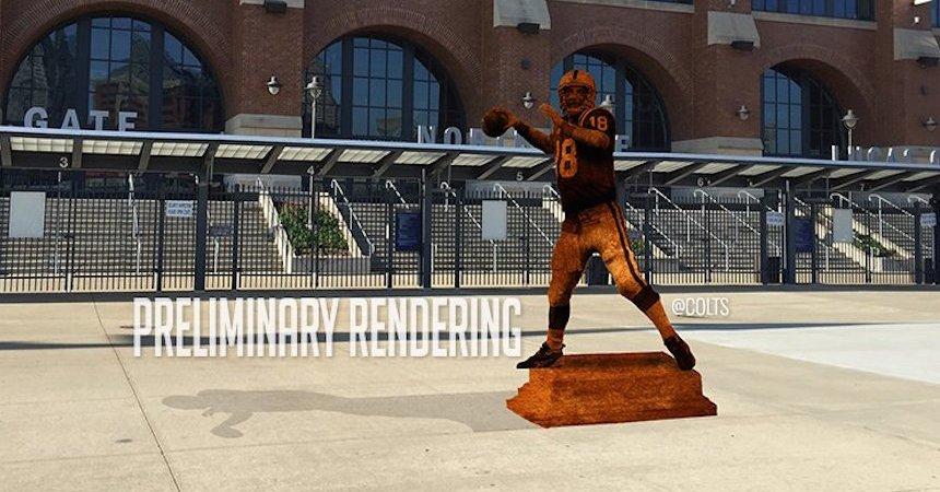 peyton manning estatua