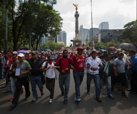 Teachers Protest Against Government in Mexico City