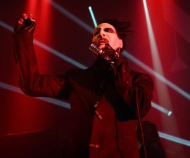 CHICAGO, IL - FEBRUARY 05: Marilyn Manson performs at Riviera Theatre on February 5, 2015 in Chicago, Illinois. (Photo by Daniel Boczarski/Getty Images)