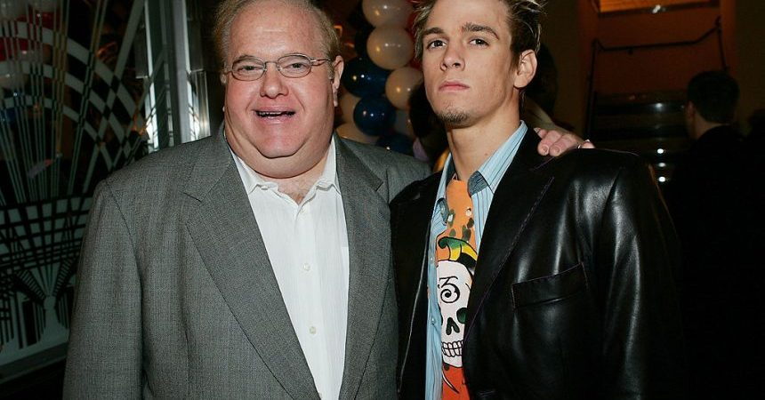 NEW YORK - MARCH 6:  Record impresario Lou Perlman and singer Aaron Carter attend the 6th Annual T.J. Martell 'Family' Day' Indoor Carnival Benefit at Cipriani's Fifth Avenue March 6, 2005 in New York City. (Photo by Evan Agostini/Getty Images)