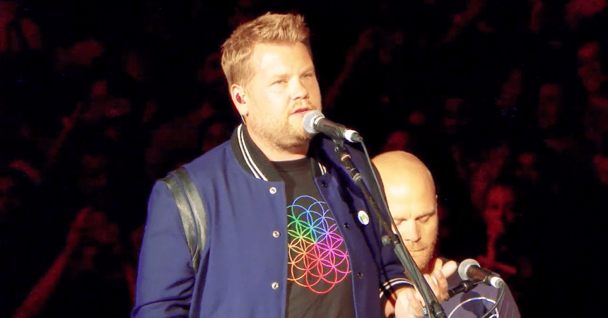 james corden coldplay