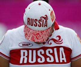 Una participante de Rusia durante una prueba de tiro con arco en los Juegos Paralímpicos de Londres