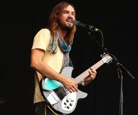 SYDNEY, AUSTRALIA - JANUARY 26:  Kevin Parker of Tame Impala performs live for fans at the 2014 Big Day Out Festival on January 26, 2014 in Sydney, Australia.  (Photo by Mark Metcalfe/Getty Images)