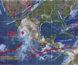 El meteoro provocará lluvias en gran parte del país